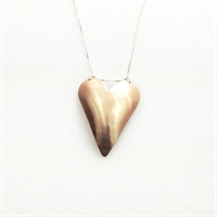 Picture of Copper Rose Large Heart Necklace