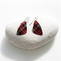 Picture of Tartan Butterfly Wing Earrings WT-E04