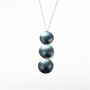 Picture of Geo Blue Three Disc Necklace JS51