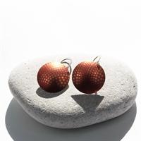 Picture of  Geo Orange Disc Earrings JE-51
