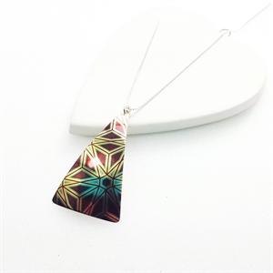Picture of Geo Triangle Necklace JS52