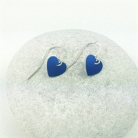 Picture of Blue Aluminium Round Heart Earrings JE1