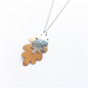 Picture of Copper Rose Aluminium Oak Leaf Necklace