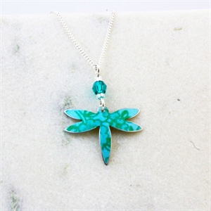 Picture of Turquoise Petite Dragonfly Necklace