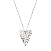 Picture of Eco Aluminium Hammered Slim Heart Necklace