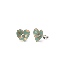 Picture of Kyoto Garden Jade Heart Studs