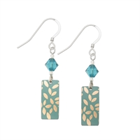 Picture of Kyoto Jade Rectangle & Crystal Earrings