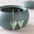 Picture of Kyoto Garden Jade Medium Heart Earrings Long