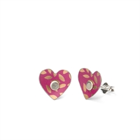 Picture of Kyoto Garden Fuchsia Heart Studs