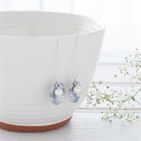 Picture of Scandi Grey Oval & Pearl Earrings