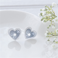Picture of Scandi Grey Double Heart Studs
