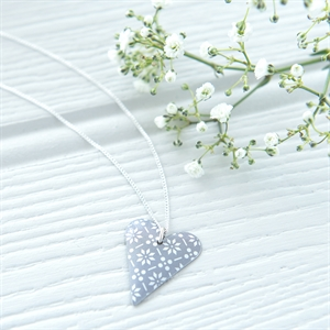 Picture of Scandi Grey Slim Heart Necklace