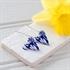 Picture of Italian Blue Long Medium Heart Earrings