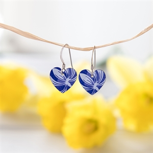 Picture of Italian Blue Round Heart Earrings