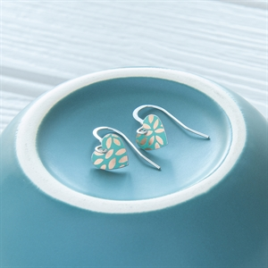 Picture of Kyoto Garden Jade Small Round Heart Earrings