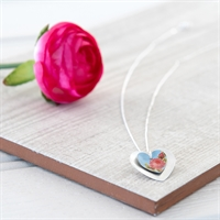 Picture of Rose Double Heart Necklace