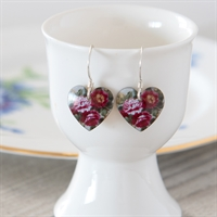 Picture of Peony Round Heart Earrings