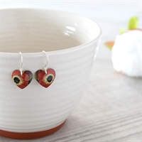 Picture of Poppy Round Heart Earrings