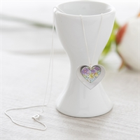 Picture of Lilac Double Heart Necklace
