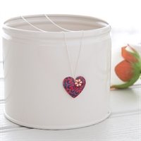 Picture of Damask Red Round Heart Necklace