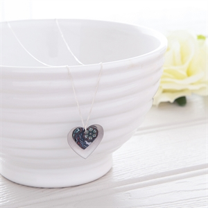 Picture of Damask Purple Double Heart Necklace