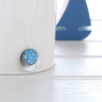 Picture of Damask Blue Double Disc Necklace