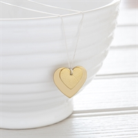 Picture of Medium Brass Heart Necklace