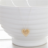 Picture of Small Hammered Brass Heart Necklace