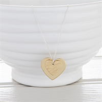 Picture of  Medium Brass Hammered Heart Necklace