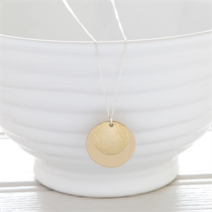 Picture of Medium Brass Disc Necklace