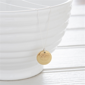 Picture of Small Brass  Disc Necklace