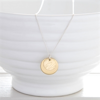 Picture of Small Hammered Brass Disc Necklace