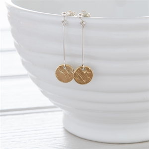 Picture of Upcycled Brass Disc Earrings