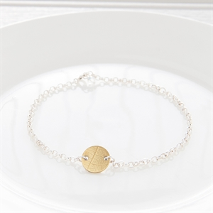 Picture of Brass and Sterling Silver Disc Bracelet