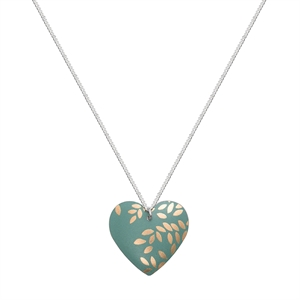 Picture of Kyoto Garden Jade Round Heart Necklace