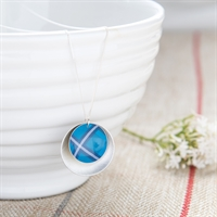 Picture of Blue Tartan Double Disc Necklace