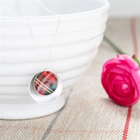 Picture of Red Tartan Double Disc Necklace