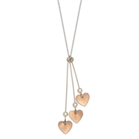 Picture of Copper Rose Three Hearts Necklace