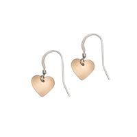 Picture of Copper Rose Small Heart Earrings