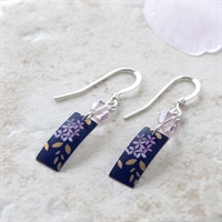 Picture of  Kyoto Garden Blue Purple Rectangle Earrings