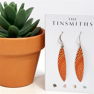 Picture of Orange Skinny Leaves Earrings