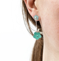 Picture of Jade Daisy Long Earrings