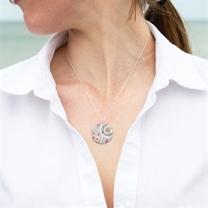 Picture of Lotus Disc Necklace
