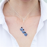 Picture of Forget Me Not Triple Heart Necklace