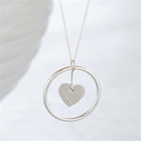 Picture of Silver Circle of Life Heart Necklace