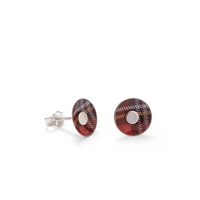 Picture of Red Tartan Round Studs
