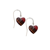 Picture of Red Tartan Small Heart Earrings