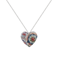 Picture of Lotus Round Heart Necklace