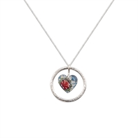 Picture of Lotus Circle of Life Heart Pendant