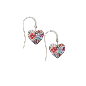 Picture of Lotus Small Round Heart Earrings